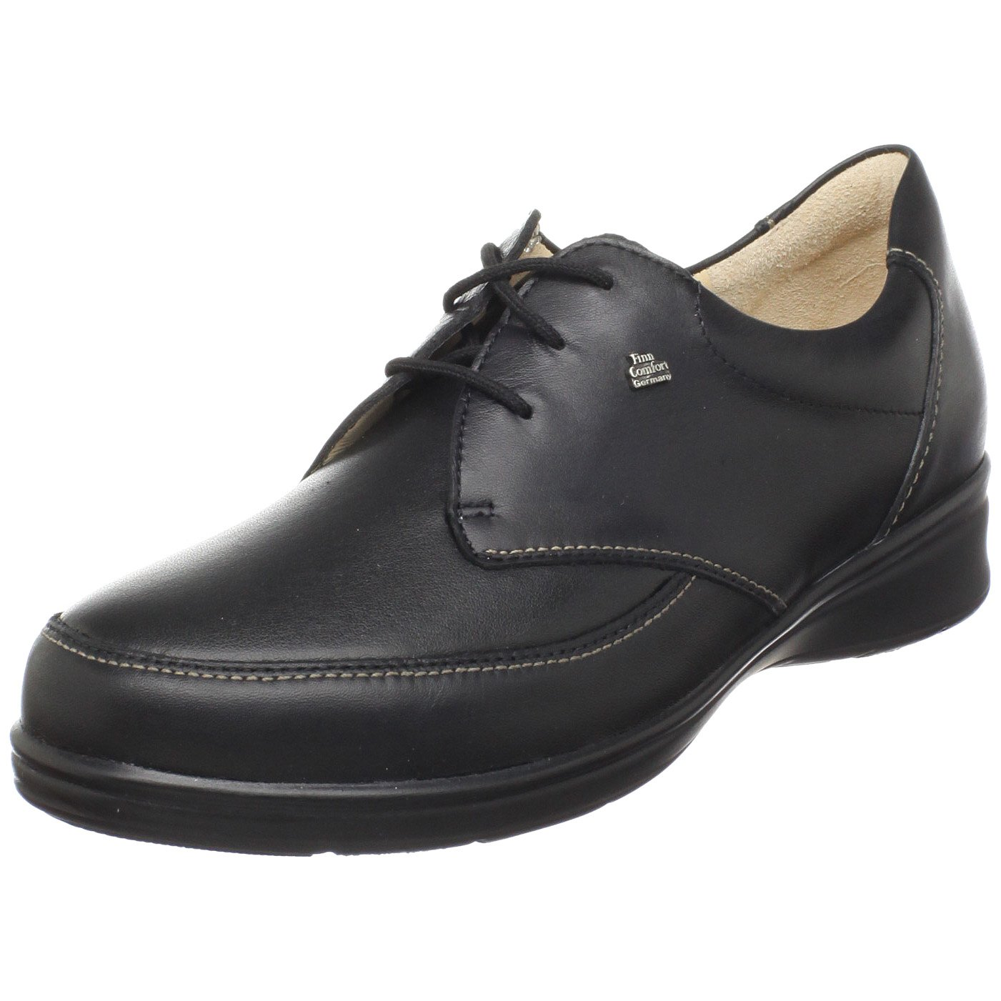 Finn Comfort Women's Arnheim Oxford,Black Nappa/Stretch,6.5 M US/ 4 UK