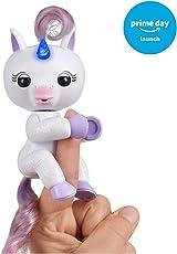 WowWee Fingerlings Light Up Unicorn - Mackenzie (Amazon Exclusive) - Interactive Collectible Baby Pet
