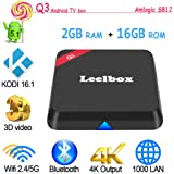 [2016 新着] Leelbox Q3 Android TV Box Amlogic S812 Octo Core Gpu Android 5.1 KODI 16.1 2GB /16GB Dual Wifi 5G/2.4G bluetooth 4.0 1000M LAN スマートメディアプレーヤー [並行輸入品]