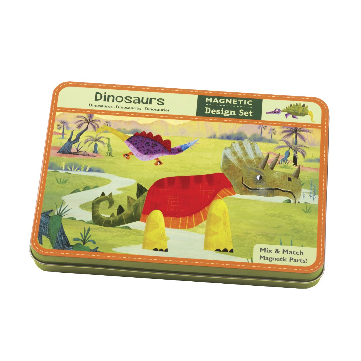 Mudpuppy Dinosaurs Magnetic Build-its