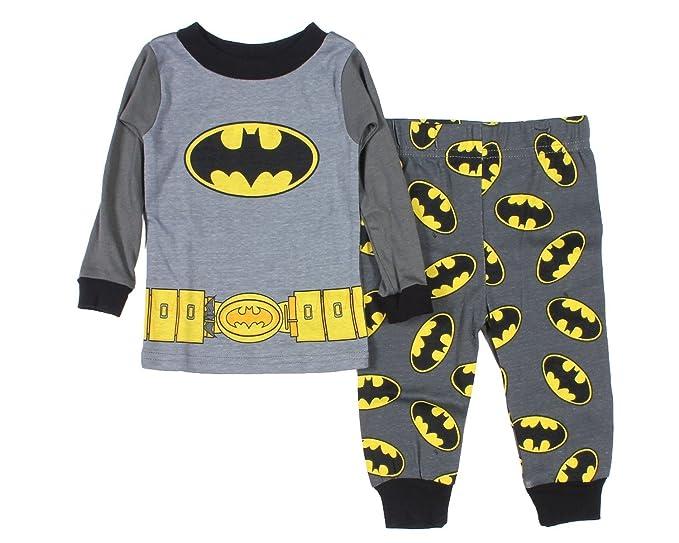 DC Comics Batman Baby Boys utilidad cinturón manga larga pijama gris gris 12 Meses