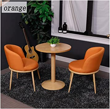 Amazon Com Balcony Tables And Chairs Modern Nordic 1 Table 2 Chairs Cotton Linen Coffee Table Game Table Orange Pink Multicolor Tea Shop Dessert Shop Hotel Reception 60cm In Diameter Gaohh Color