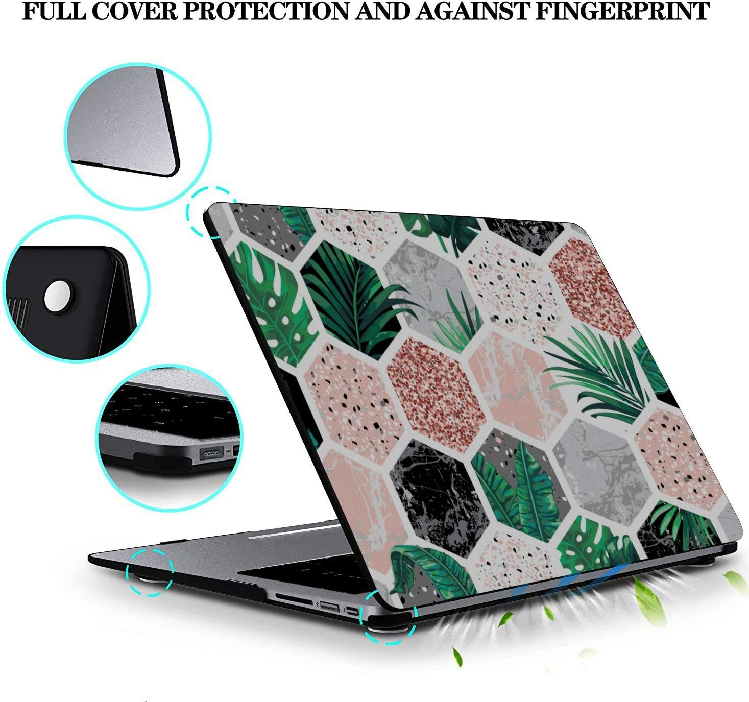 Laptop Hard Case Shining Cute Beautiful Painting Plastic Hard Shell Compatible Mac Air 11 Pro 13 15 MacBook Pro 15in Case Protection for MacBook 2016-2019 Version