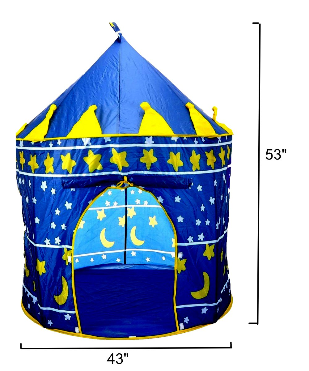 TentTrix Kids Play Tent - Indoor / Outdoor Blue Prince Castle Tent - GLOW IN THE DARK Stars Flashlight  sc 1 st  eBay & TentTrix Kids Play Tent - Indoor / Outdoor Blue Prince Castle Tent ...