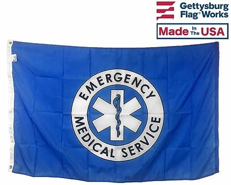 Ems 3X5 Feet Flag Emergency Medical Service Flag by Flag