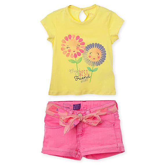 Amazon.com: OFFCORSS Toddler Girl Spring and Summer Outfit Conjunto de Niñas 12 M - 3T: Clothing