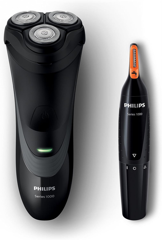 Philips S1520/41 Pack De Afeitadora Y Recortador Facial, Negro ...