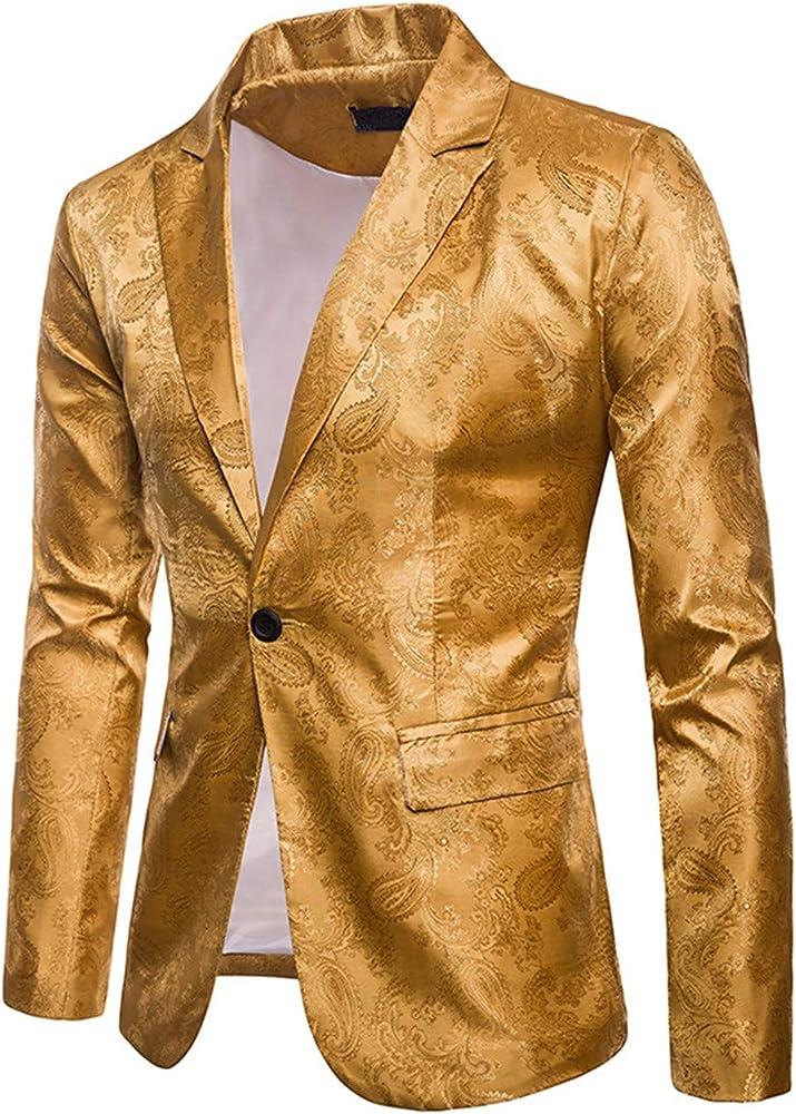 Shuanghao Traje de Vestir Casual Hombres Slim Fit Estampados ...