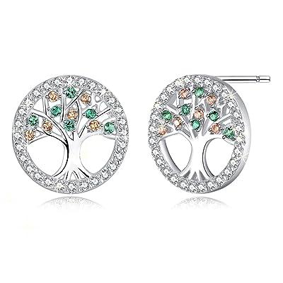 925 Sterling Silver Ear Stud Dangle Earrings Wedding Bridal Jewelry Exquisite