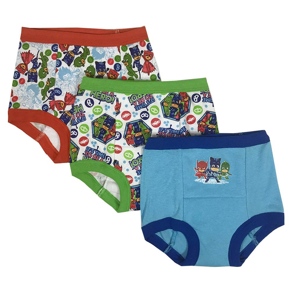 PJ Masks Toddler Boys' 3-Pack Training Pants, PJ Marina Sky/Multi, 4T