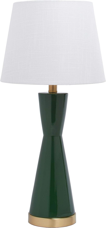 "Amazon Brand – Rivet Modern Table Lamp, 24""H, Green"