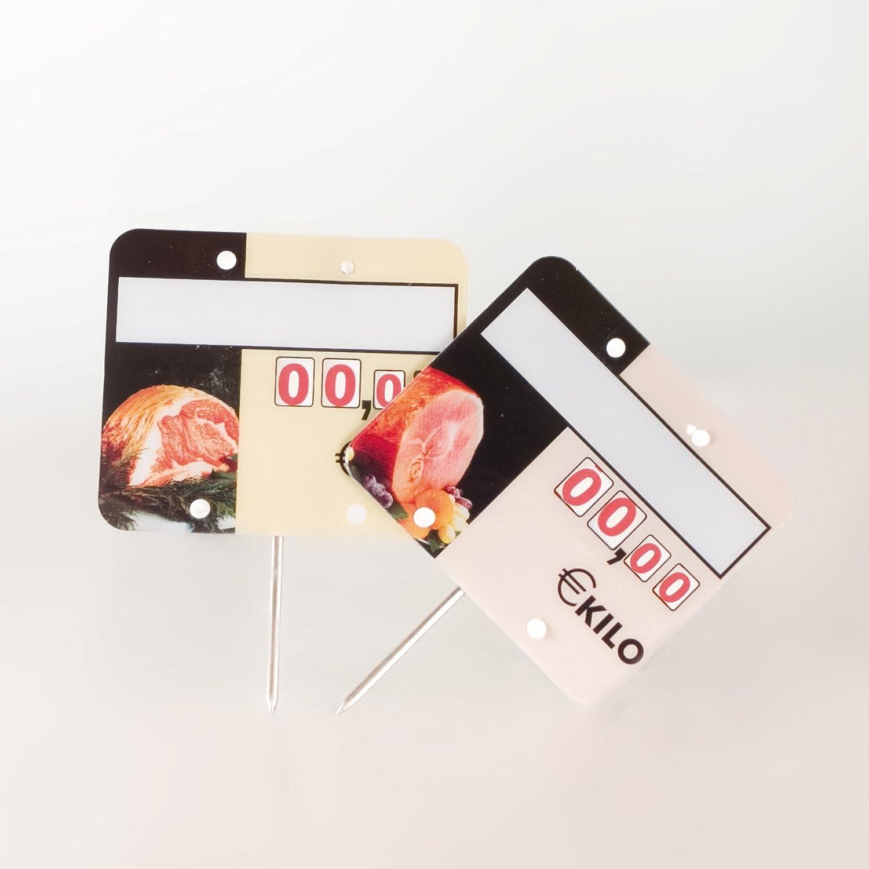 Cartel porta precios carnicería (lote 30 carteles): Amazon ...