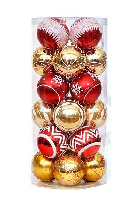 24 Pezzi 60 Mm Palline Di Natale Novita Modello Palline Colorate