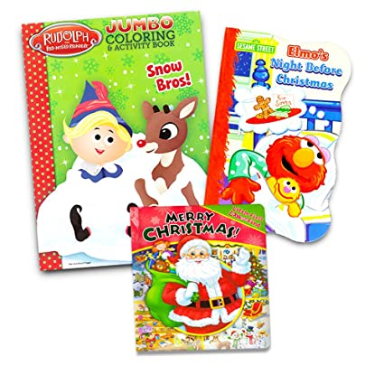 christmas coloring and activity books set for kids toddlers rudolph the red nosed reindeer