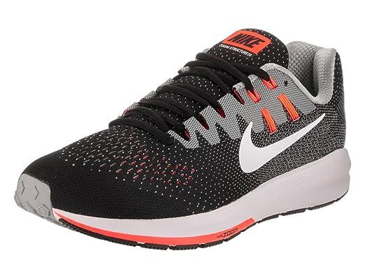 dd7a9dcf11ab0 Nike Men s Air Zoom Structure 20 Black White Matte Silver Running Shoe 13  Men