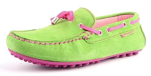 Agatha Ruiz De La Prada - Mocasines de Piel para niña Verde Lima 31: Amazon.es: Zapatos y complementos