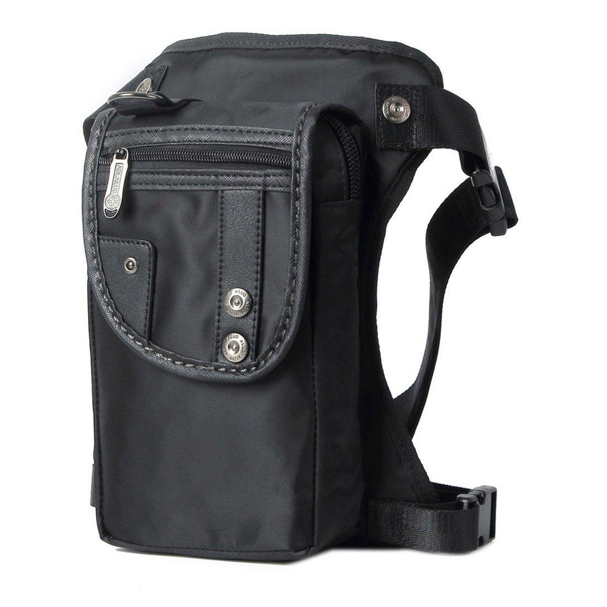 Anjoy Drop Leg Bag Fanny Waist Packs Motorcycle Steampunk Costume Outdoor Tatical Black ebest