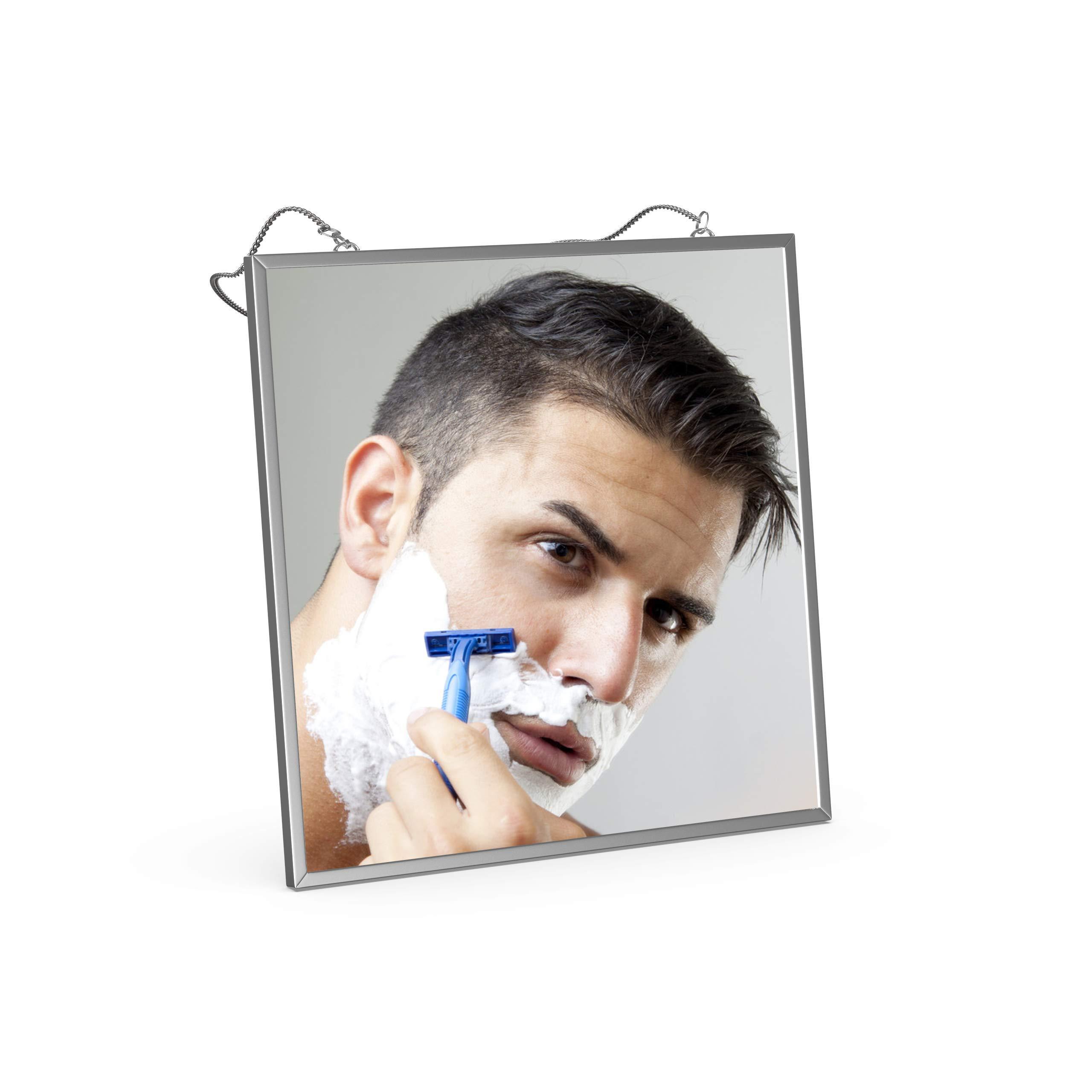 Fog Free Shower Mirror for Shaving, Liootech Anti-Fog Bathroom Fogless Shower Mirror large