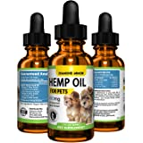 Full Spectrum Hemp Oil Drops for Dogs and Cats (Pets) - 450mg Made in USA - Natural Joint, Coat & Skin Supplement | Relieves Pain, Stress, Separation Anxiety & Sleep Aid W/ Omega 3, 6 & 9 Oils (Mint)
