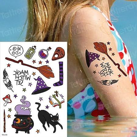 adgkitb 3 Piezas Tatuaje Temporal Gato Tatuaje y Arte Corporal ...