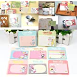 HeroNeo® 1pc Random Cute Little Talk Girl Sticker Memo Pads Point It Notes 30 Sheets New