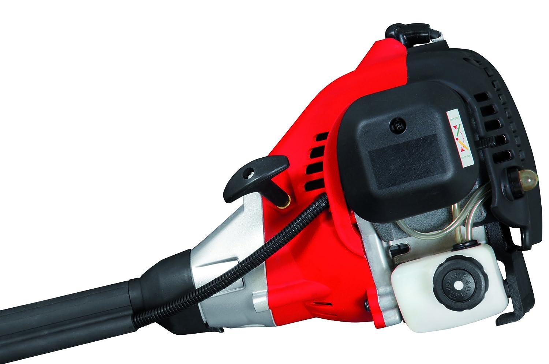praktische TIPP Automatik inkl 1 kW 23 cm Schnittkreis Spule und verstellbarem Schultergurt Rasentrimmer + 1 Doppelfadenspule 1,36 PS Motor Grizzly Benzin Motorsense Rasentrimmer MTS 30-10 E2