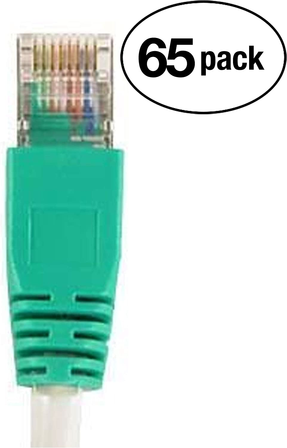 Professional Series InstallerParts 250 Pack Gray w//Green End Ethernet Cable CAT5E Cable UTP Crossover 3 FT 1Gigabit//Sec Network//Internet Cable 350MHZ
