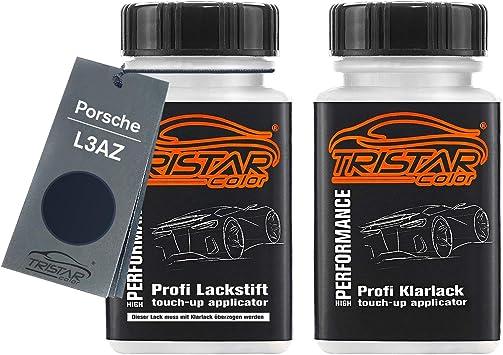 Tristarcolor Autolack Lackstift Set Für Porsche L3az Oceanblau Metallic Ocean Blue Metallic Basislack Klarlack Je 50ml Auto