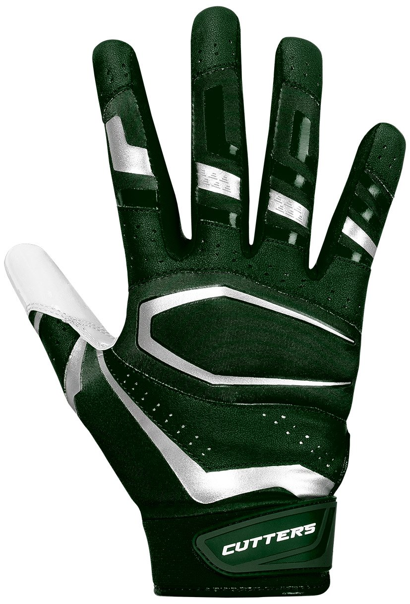 Cutters Gloves, Drrk Green/White, Medium by Cutters