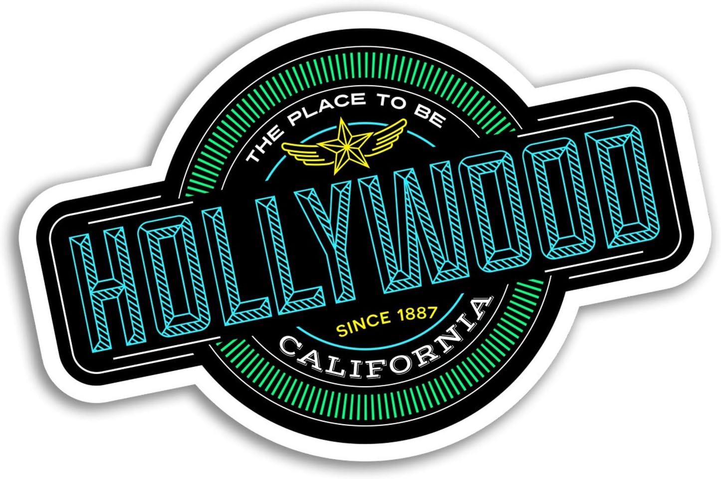 2 x 10cm Hollywood Vinyl Stickers - America USA Sticker Laptop Luggage #17845 (10cm Wide)