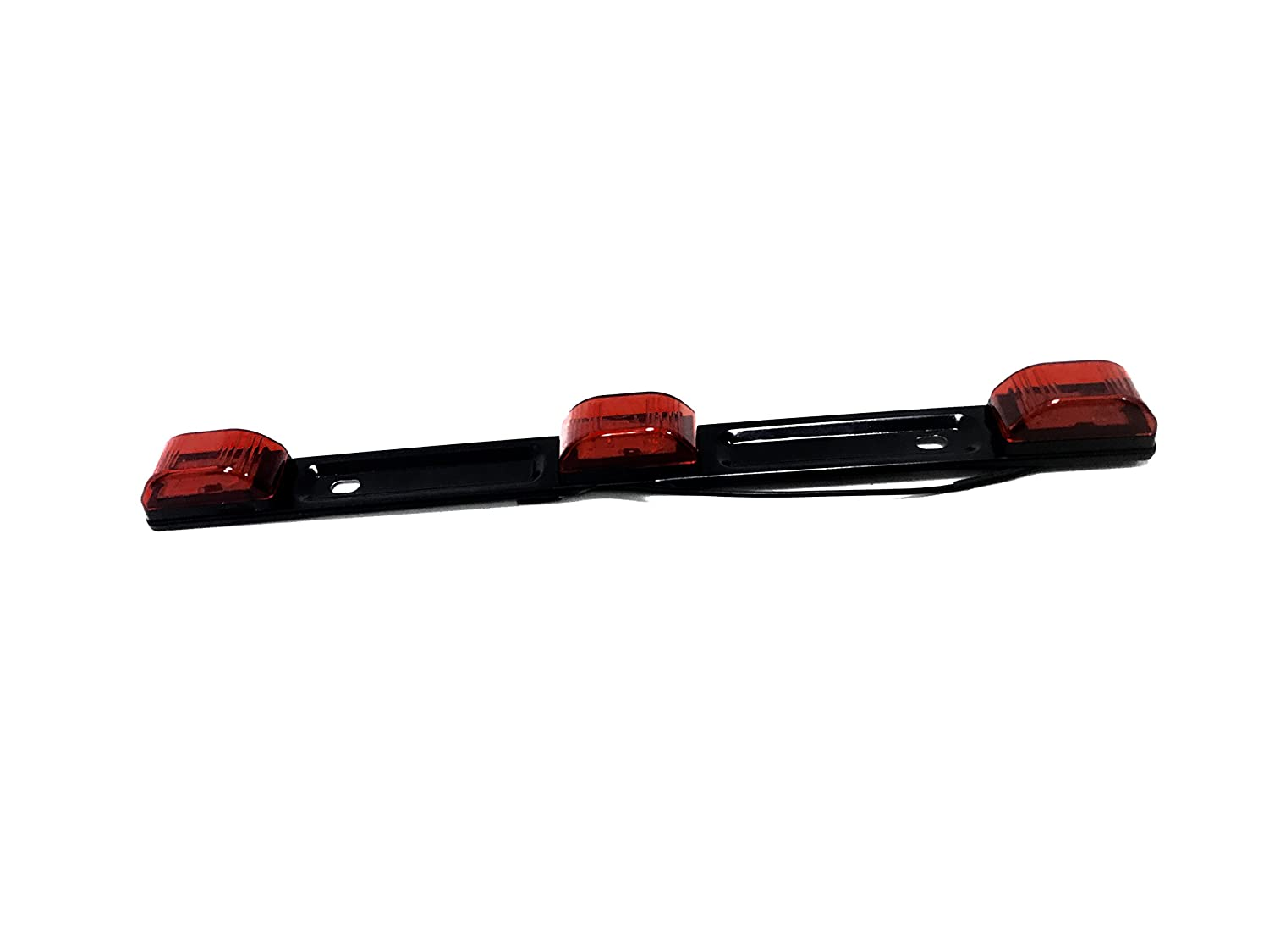 Waterproof, Sealed /& Stainless Steel Base, Truck//Trailer MaxxHaul 70449 Red LED Clearance Identification Light Bar