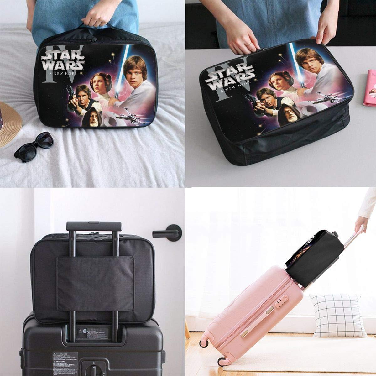 BOKAIKAI1306 Cool S-Star Wars Unisex Adult Fashion Lightweight Large Capacity Portable Large Travel Duffel Bag Mens Woman Luggage Bag 3D Printing Customized Boarding Box