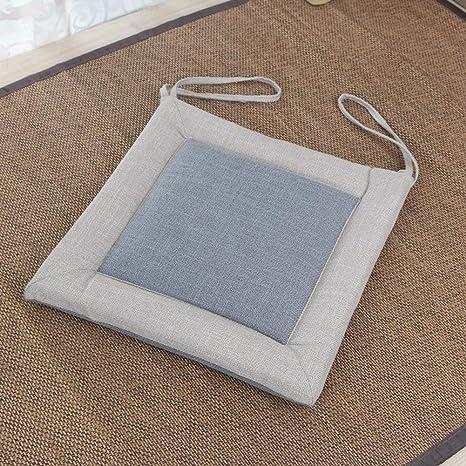 Almohadillas para silla de comedor Asiento acolchado de lino ...