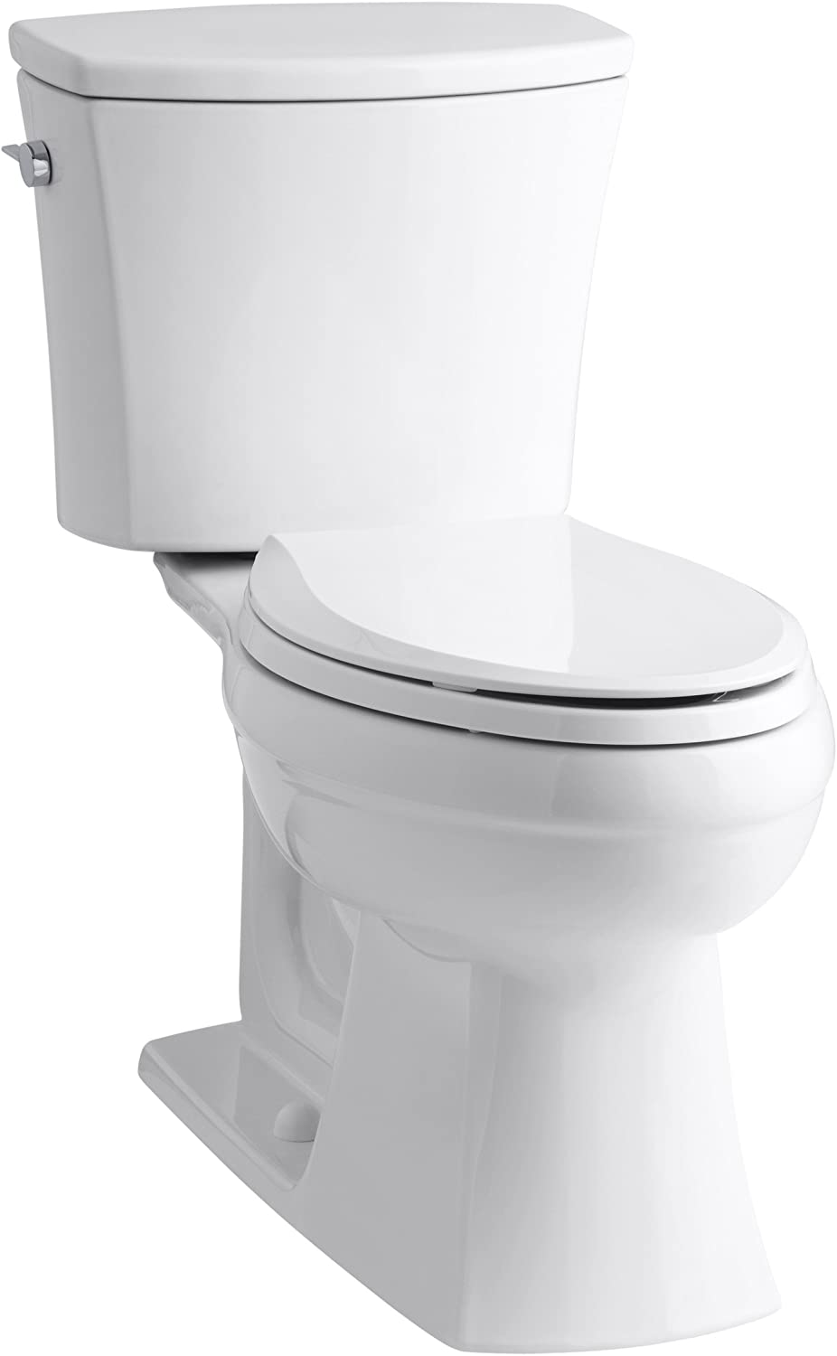 Kohler K 3754 0 Kelston Comfort Height Two Piece Elongated 1 6 Gpf Toilet With Aquapiston Flush Technology And Left Hand Trip Lever White Kelston Kohler Toliets Amazon Com