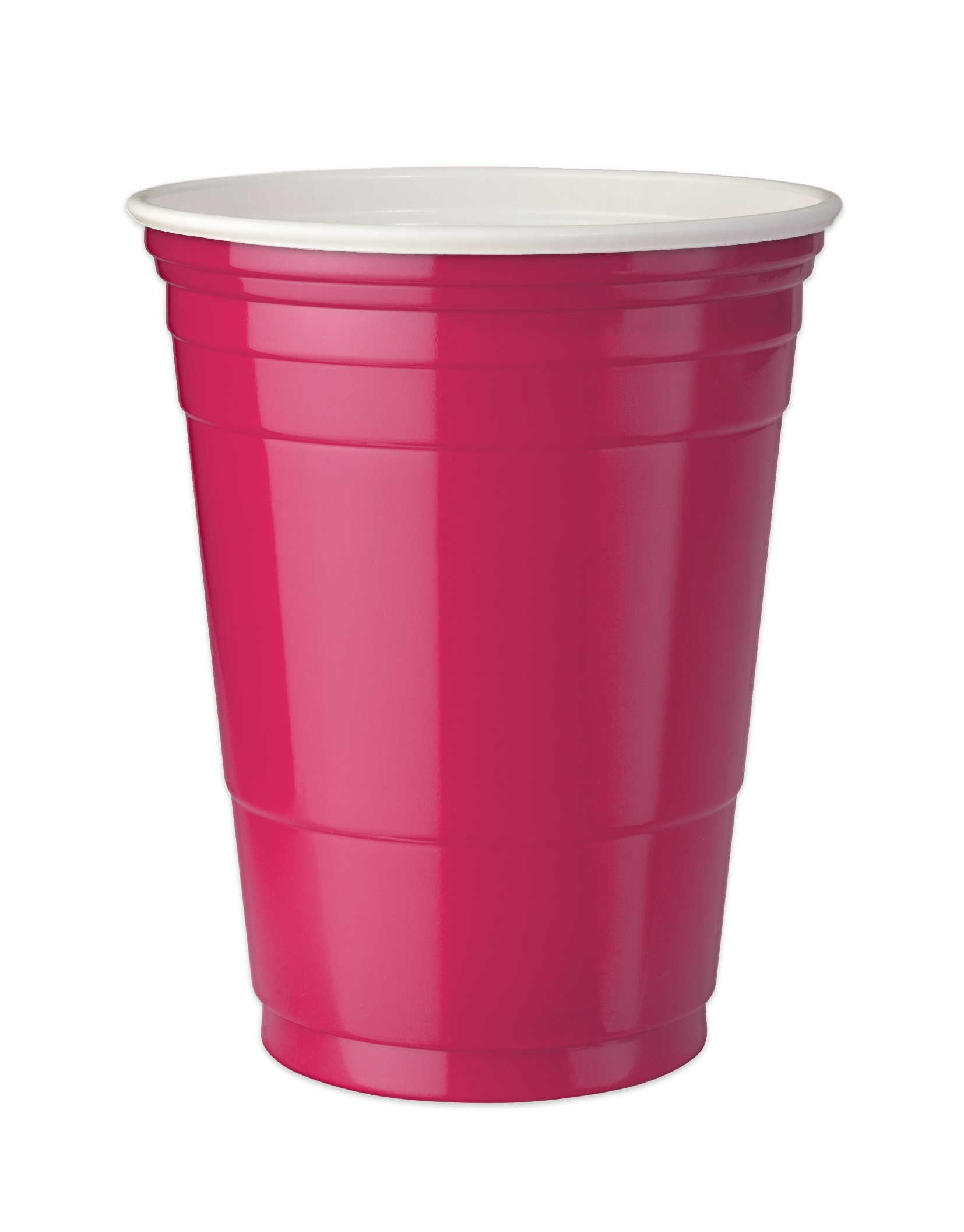 Mr. Ice Bucket Double Walled Insulated Party Cups, 16-Ounce, Azalea,(Pack of 4)