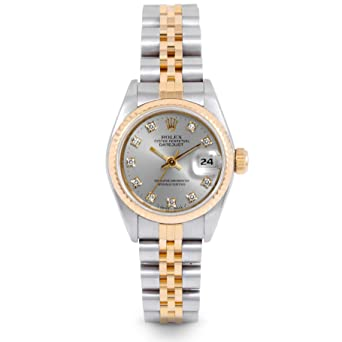 06bcd142a31 Image Unavailable. Image not available for. Color: Rolex Datejust  Automatic-self-Wind Female Watch 69173 (Certified Pre-Owned)