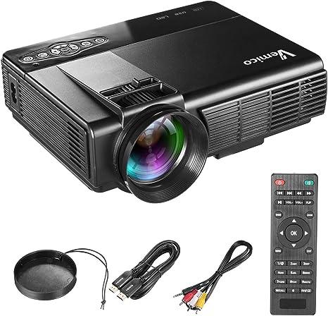 Proyector Beamer Vemico 1080P Full HD Home Theater TV 1800 Lúmenes ...