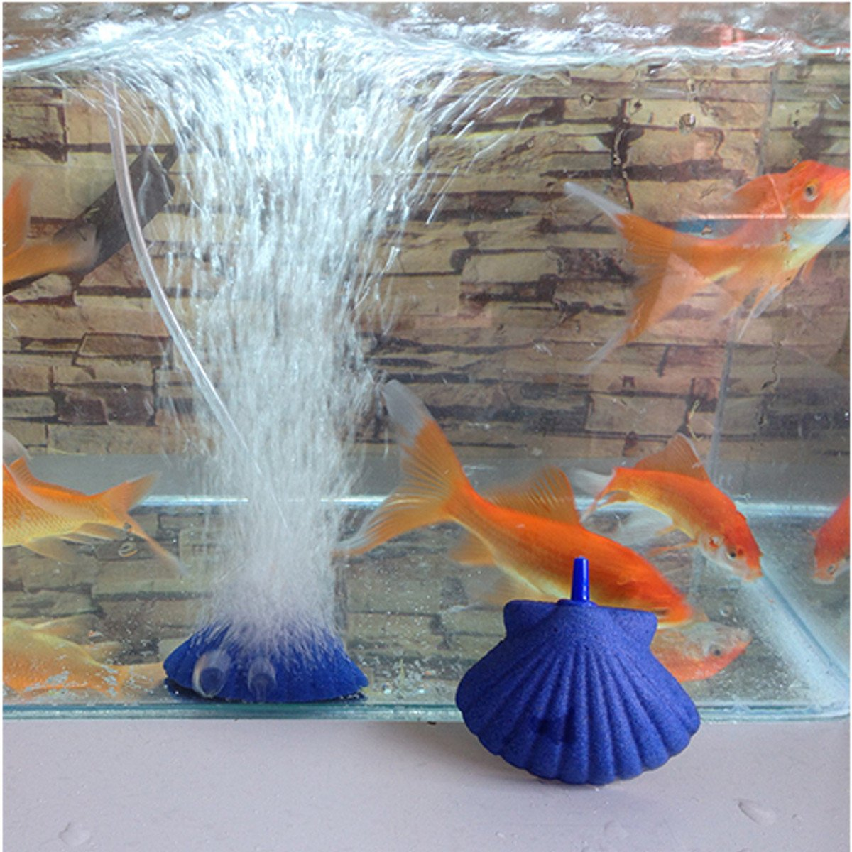 Bazaar Shell Shape Air Stone Bubble Aquarium Fish Tank Hydroponics Aerator Diffuser Fish Tank Bubble Pump Big Bazaar