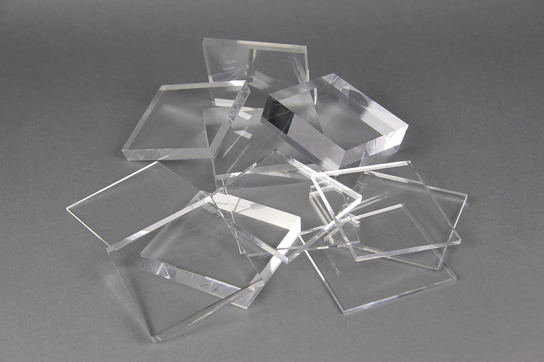 Acrylglas Zuschnitt Plexiglas Zuschnitt 10-25mm Platte//Scheibe klar//transparent 20 mm, 500 x 400 mm