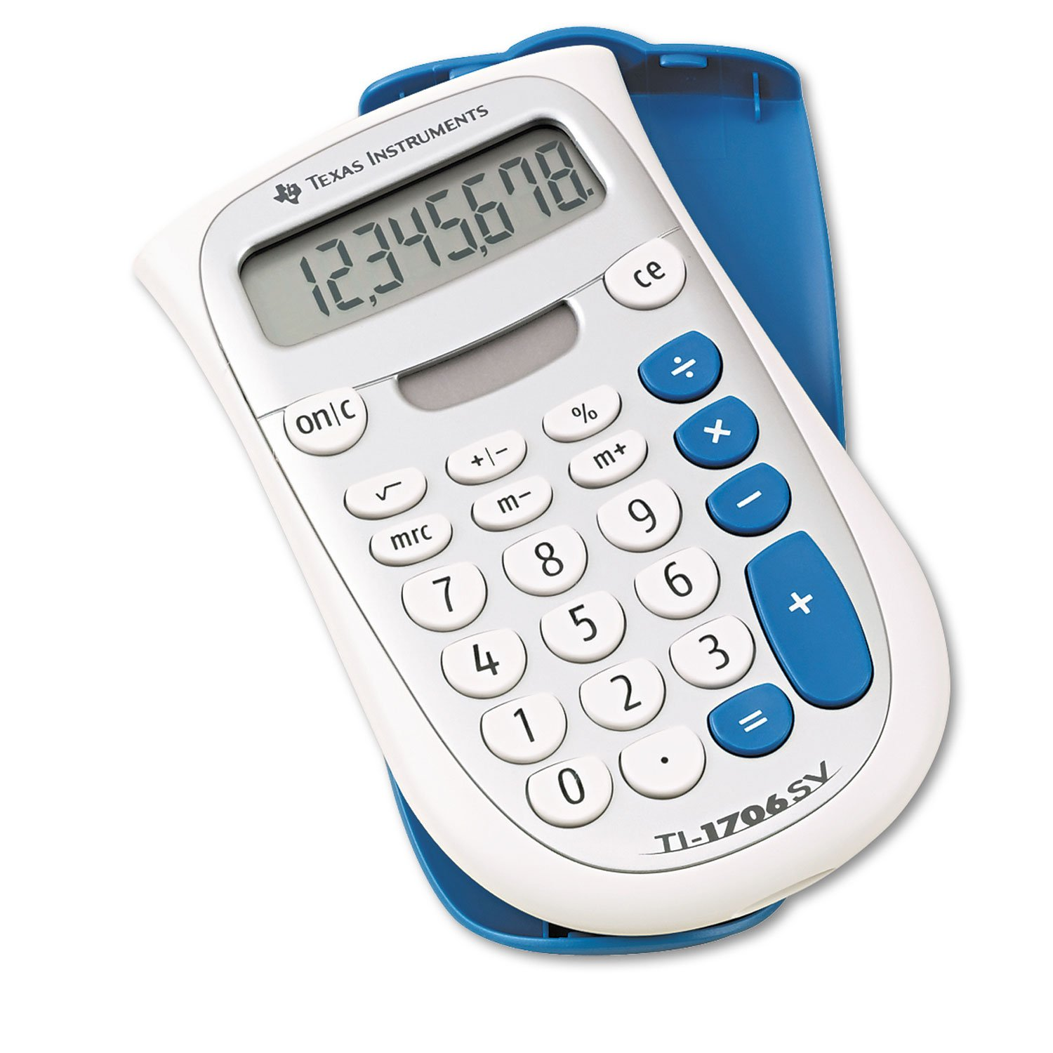 TI-1706SV Handheld Pocket Calculator, 8-Digit LCD Texas TI1706SV DOBA-TEXTI1706SV