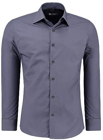 wholesale dealer 235cc 493af TMK Herren Hemd - Slim - Fit - Langarm - Premium Bügelleicht Hemden für  Business, Freizeit, Hochzeit, Party für Männer