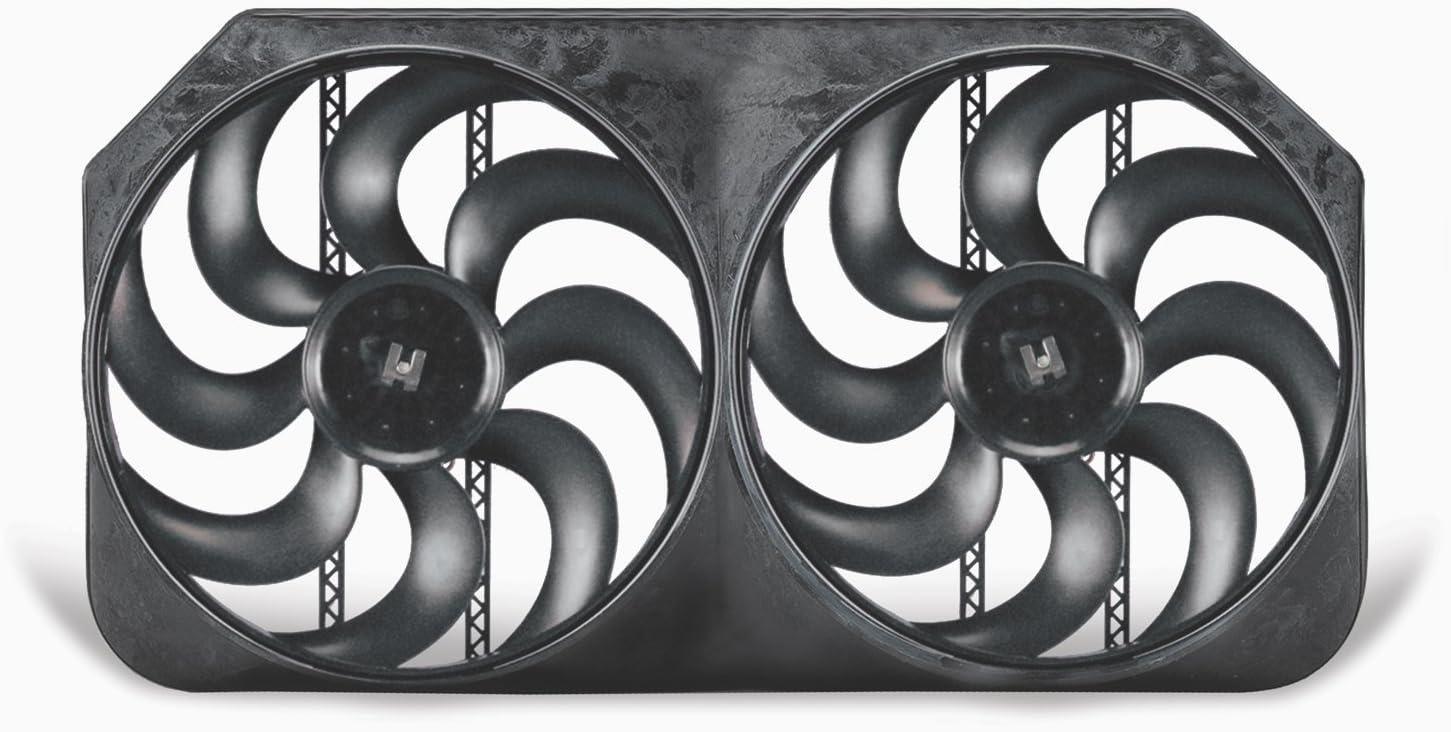 Flex-a-lite 294 Dual Shrouded S-Blade Electric Fan, 15