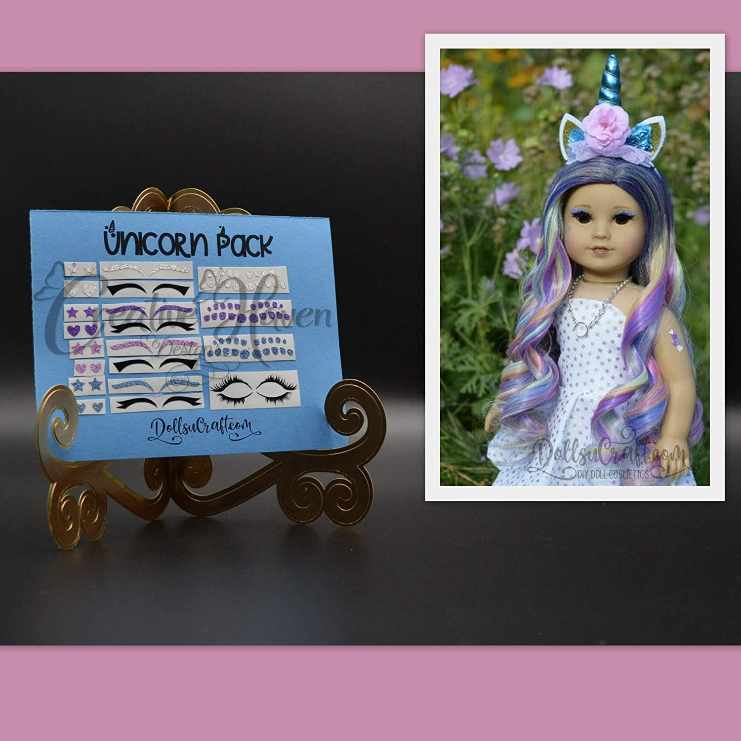 Unicorn American Girl Doll Removable Makeup Accessories