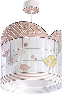 Dalber 71282 Hanging Lamp Little Birds, Plastique, 60 W, Rose