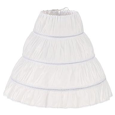 b7b1b6cdb4d Noriviiq Enfants 3 cerceaux Petticoat Filles Crinoline Jupons sous 4-14 Ans Filles  Princesse