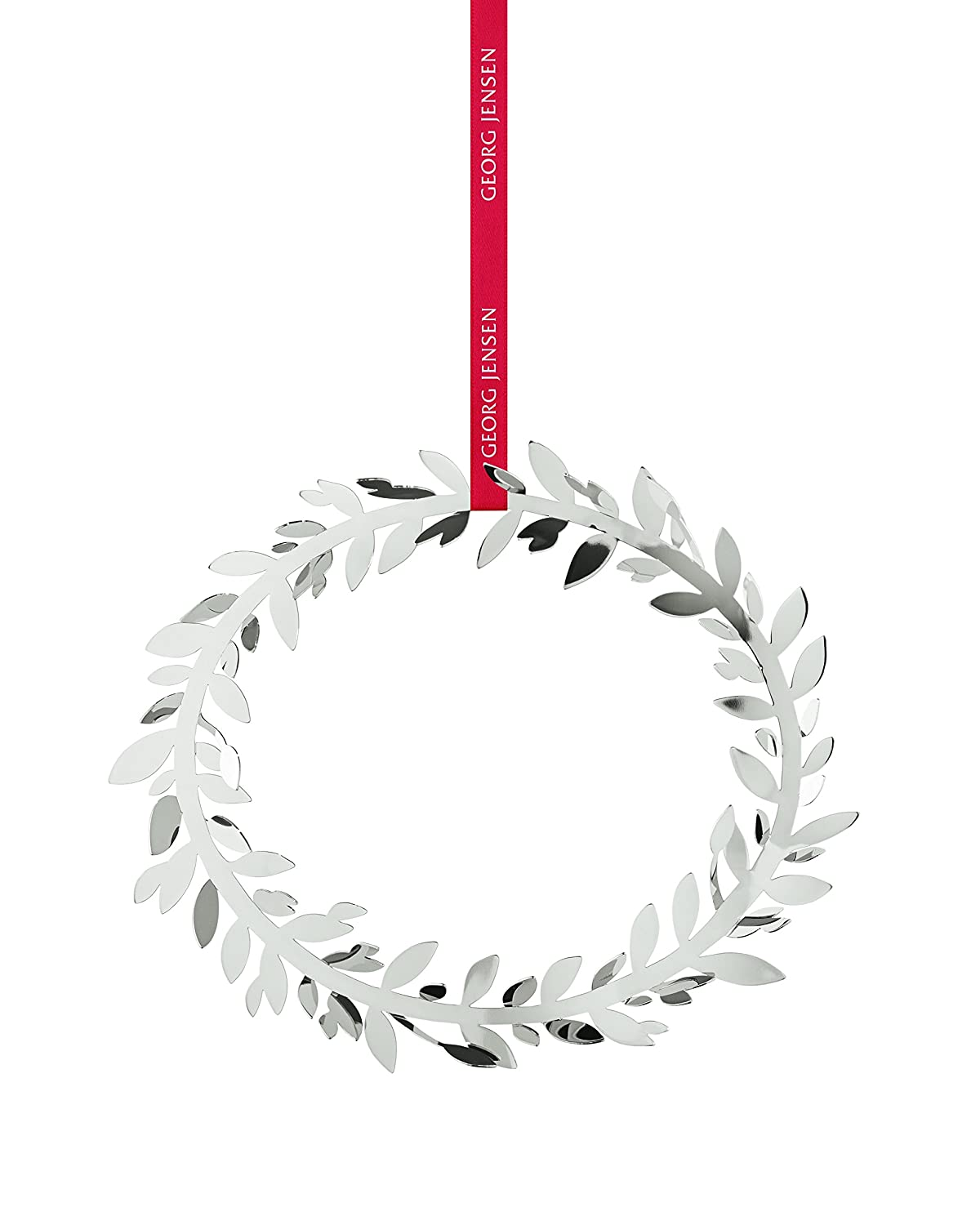 Silver New Boxed, DANISH GEORG JENSEN 2016 CHRISTMAS WREATH-DECORATION