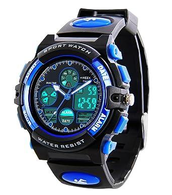 4a85409ca Buy Kids Sports Digital Watch -Boys Waterproof Outdoor Analog Watch with  Alarm