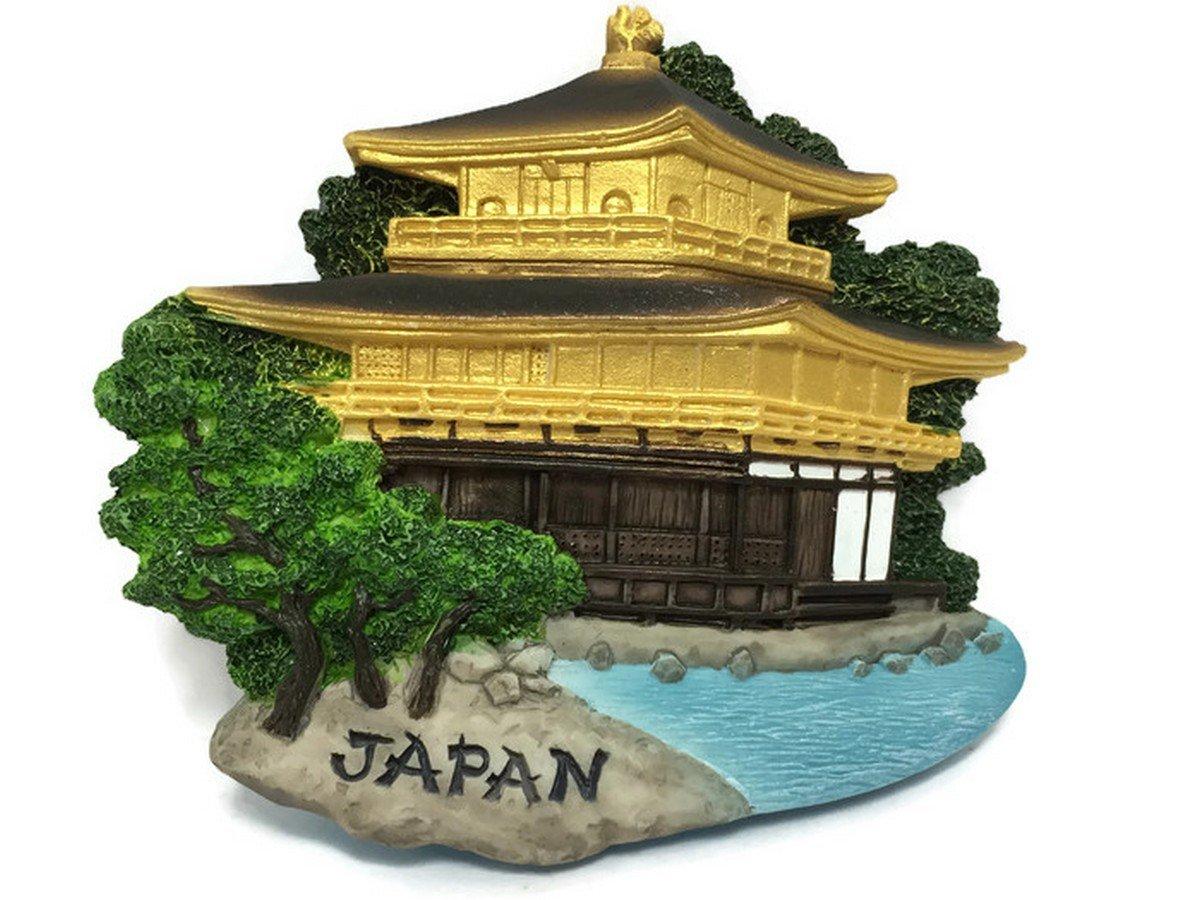 Kinkaku-ji Temple (The Golden Pavilion) - Kyoto Japan, High Quality Resin 3d Fridge Magnet