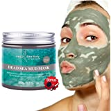 HeaBea Body Clear face Skin Mask Efficiently Acne blackhead remover,Reduces Pores & Wrinkles Dead Sea Mud Masks Natural Minerals Treatment For All kinds Skin Type Beauty Care / with Essential tool