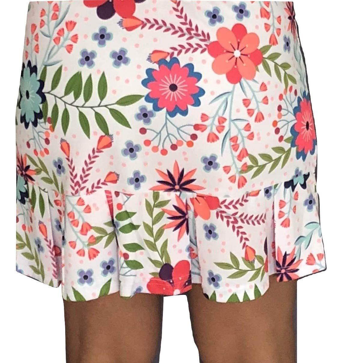 Tennis Skirt, Skort in Print, Frill at The Bottom (Large)
